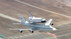 Los Angeles Space Shuttle Landing Stock Footage