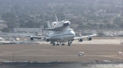 Los Angeles Space Shuttle Landing - stock footage