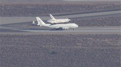 Space Shuttle Endeavour Tarmac - stock footage