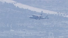 Space Shuttle Endeavour Plane Stock Footage