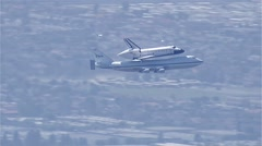 Space Shuttle Endeavour Plane - stock footage