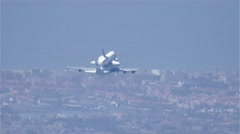 Shuttle Endeavour Plane Stock Footage