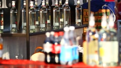 Bar Top Refreshments - stock footage
