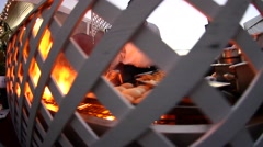 Chef Flips Burgers Stock Footage