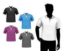 Stock Illustration of T-shirts male polo set