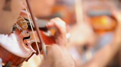Man Plays Violin Stock Footage