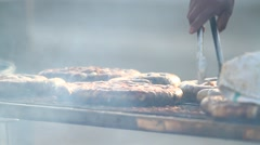 Cooking Sausage Stock Footage