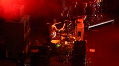 Concert Drummer drumming Stock Footage
