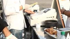 Customer Buys Food Stock Footage