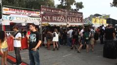 Street Fair Booths Stock Footage