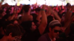 Concert People Partying Stock Footage
