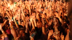 Concert People Waving Arms Stock Footage