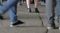 Peoples Feet Dancing Stock Footage