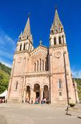 covadonga, spain - september 4, 2014 : celebrating a mass at covadonga basilica - stock photo