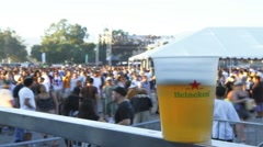 Timelapse Crowd Beer Stock Footage