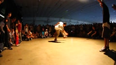 Kid Break Dancing Stock Footage