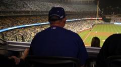 Fans Dodger Studium Stock Footage