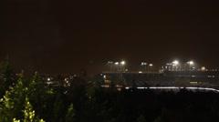 Fireworks Dodger Stadium Stock Footage