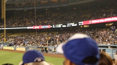 Dodger Studium Game Stock Footage