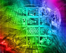 Abstract high-tech Stock Illustration
