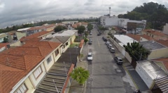 Aerial view from a Northern District in Sao Paulo, Brazil Stock Footage