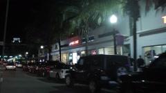 Buildings City Streets Night Stock Footage