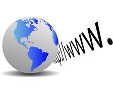 earth and http - stock illustration