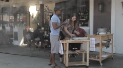 Restaurant Outside Stock Footage