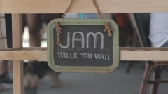 Jam Sign Stock Footage