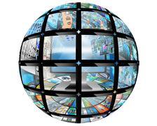 sphere ball - stock illustration