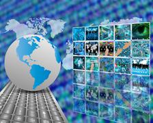 telecommunications - stock illustration
