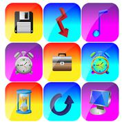 colored icons - stock illustration
