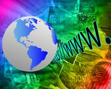 Earth and http Stock Illustration