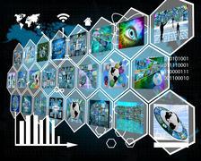 high-tech - stock illustration