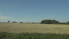 POV Point of view train trip sunny day view cereal field rural place enjoy trip - stock footage