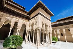 detail of the famous alhambra palace, granada, andalusia, spain. - stock photo