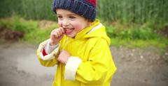 Young Boy Responding - stock footage
