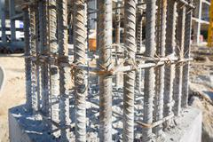 Stock Photo of cement prop in  building construct site