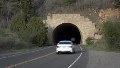 Tunnel traffic Mesa Verde Colorado 4K 107 Stock Footage