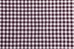 Stock Photo of table cloth with brown grids