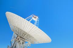 Giant satellite dishes antenna Stock Photos