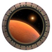 Mars Spacecraft Porthole Stock Photos