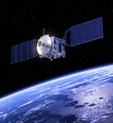 Satellite Orbiting Earth Stock Photos