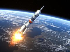 "Carrier rocket ""Soyuz-FG"" Launching - stock photo"