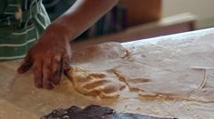 Preparing cookie dough Stock Footage