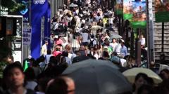 People walking at Omotesando, Tokyo, Japan Stock Footage