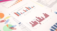 Graph Of Business Budget - stock footage