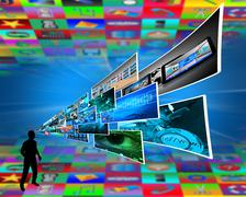 Thoughts of high technology Stock Illustration