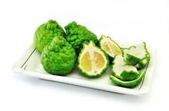 bergamot (kaffir lime) - stock photo