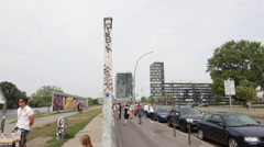 The Remainings of the Berlin Wall - stock footage